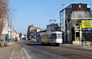 Picture of a tram in Deurne
