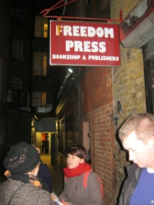 The Freedom Press (Angel Alley, Whitechapel) was founded by Kropotkin and others in 1886