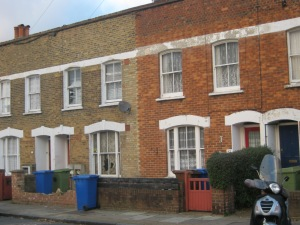 Howbury Road may have the only original houses hereabouts