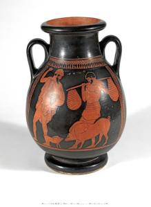 Enigmatic vase from the Fitzwilliam with pigs